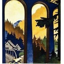El Bosque Negro alemán Alemania cartel de viaje Retro Vintage pintura de la lona de la pared DIY adornos de pared de papel hogar Decoración regalo