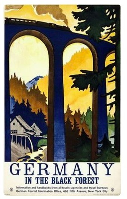 The Black Forest Germany German Travel Retro Vintage Poster Canvas Painting DIY Wall Paper Posters Home Decor Gift