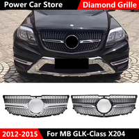 HIgh Quality X204 Diamond Grille Car Front Bumper Black Grille For Mercedes For Benz GLK X204 GLK250 GLK300 GLK350 2012 2015