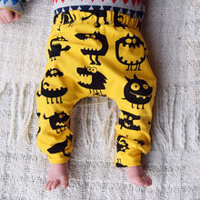 신생아 Baby Boy Girl Kids Monster Bottom 하렘 Pants Leggings 바지 0-3Y 면 유아 참신 어린이 느슨한 Pants(China)