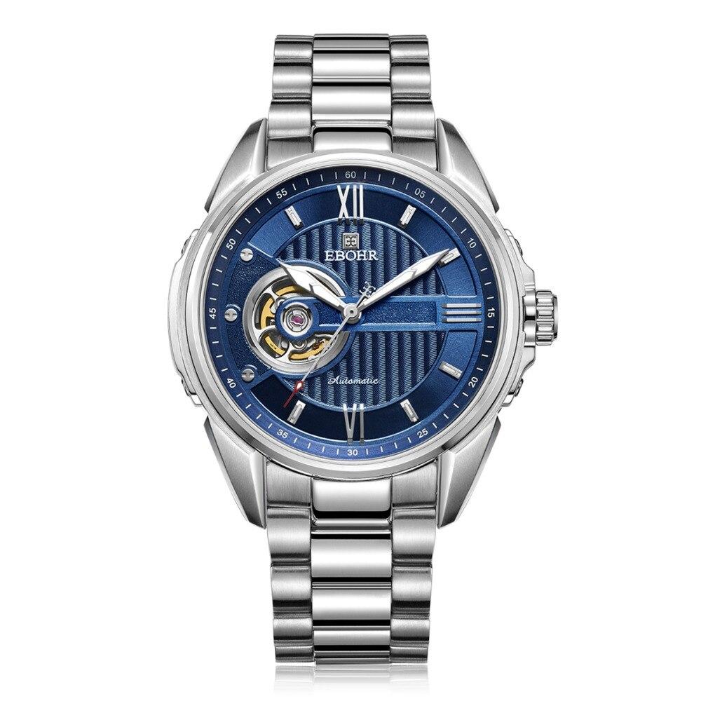 EBOHR Роскошные брендовые машины успешный для мужчин's водонепроницаемые механические наручные часы бизнес повседневное модные часы 2019 Новый...