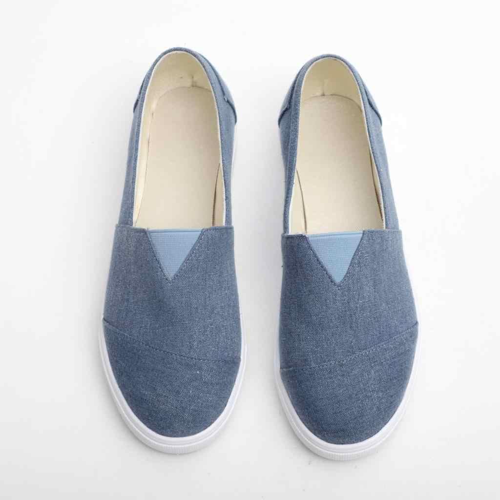 MoneRffi נשים דירות נעליים להחליק על מקרית גבירותיי בד נעלי נעלי אישה שטוח גבירותיי ופרס מוקסינים 2019