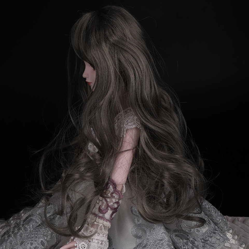 Cataleya Gratis Pengiriman 1/3 1/4 BJD Rambut Suhu Tinggi Panjang Abu-abu Lurus dan Keriting BJD Wig SD untuk BJD Boneka gratis Pengiriman