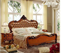 Современная Европейская кровать из цельного дерева  модная резная кровать 1 8 м  французская мебель для спальни DCXB811
