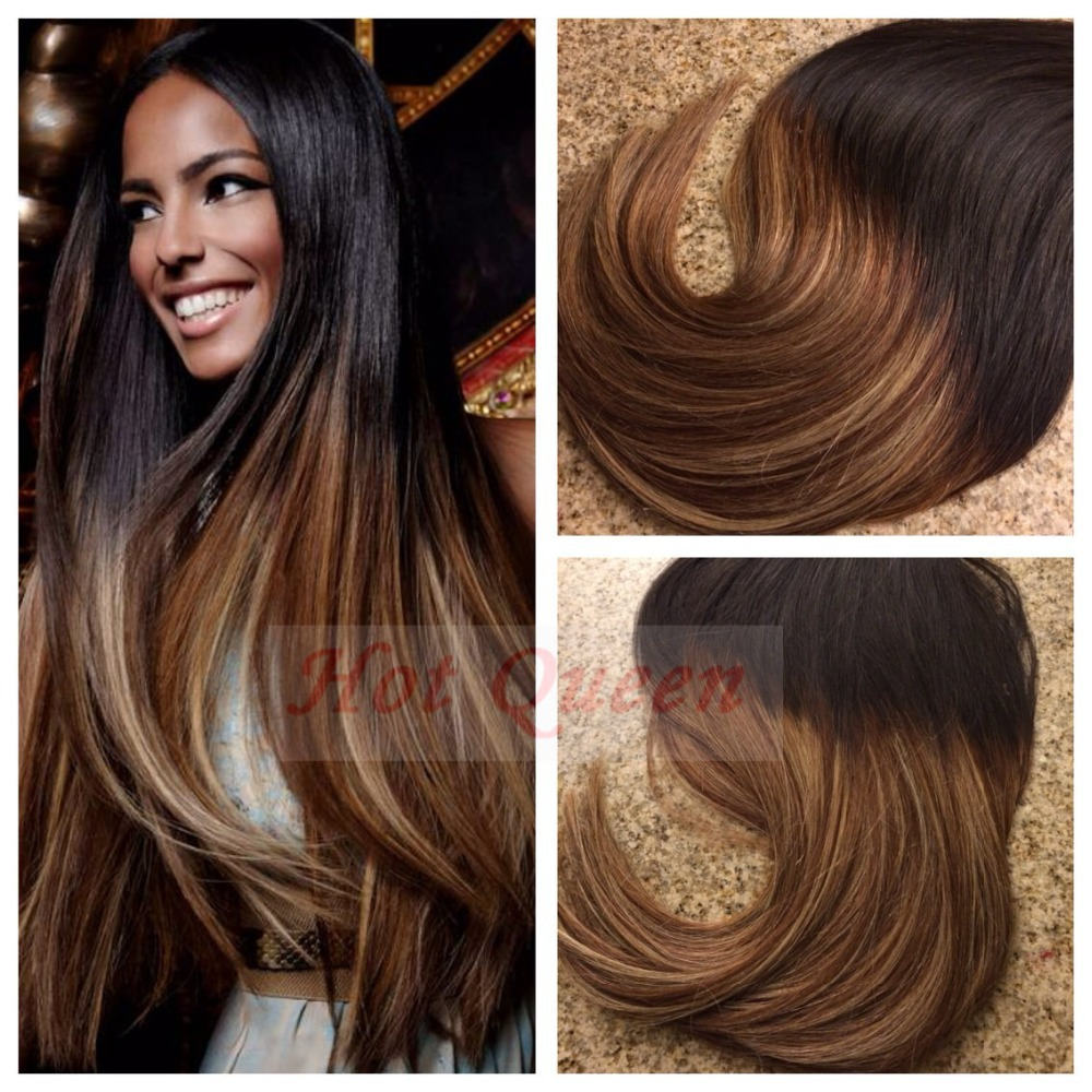Ombre Color Products Dhl Free Shipping Brazilian Straight Remy Tape