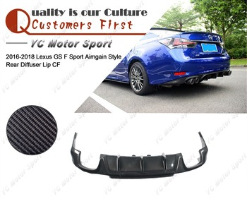 Car Accessories Carbon Fiber Aimgain Style Rear Diffuser with Muffler Tips Fit For 2016-2018 Lexus GS F Sport Rear Diffuser Lip front lip for lexus gs350