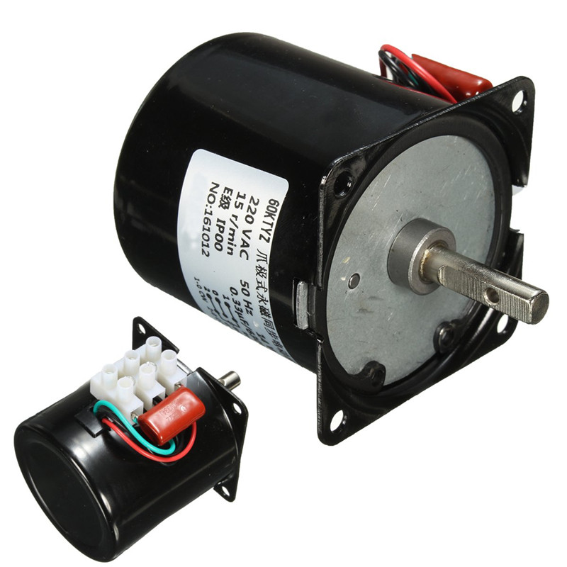 60KTYZ 220V 14W Permanent Magnetic Electric Synchronous Motor Gear 50Hz 15r/min New Arival metal shell 8 3r min ac 220vv 6w watts 50hz fan synchronous motor