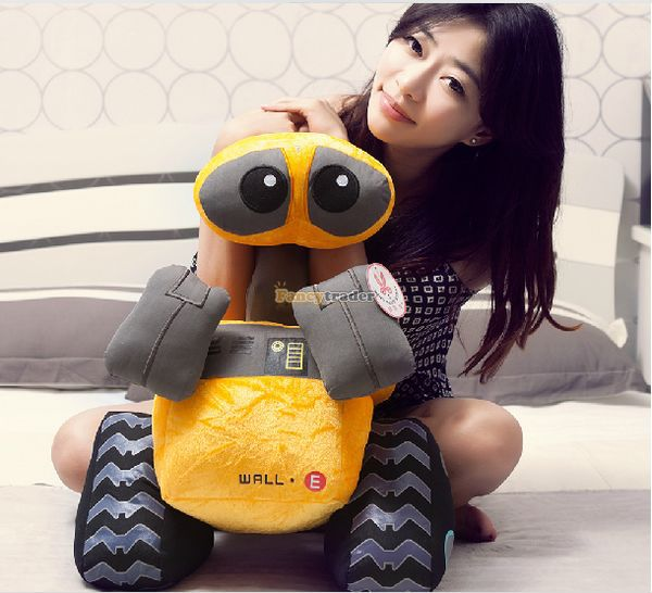 Fancytrader 22'' / 55cm Super Cute Giant Plush Soft Stuffed WALL-E Robot Toy, Great Gift For Kids, Free Shipping FT50687 fancytrader 2015 novelty toy 24 61cm giant soft stuffed lovely plush seal toy nice gift for kids free shipping ft50541