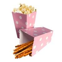 12 stuks Kleurrijke Chevron Papier Popcorn Dozen Bruiloft Tafel Decoratie Baby Shower Verjaardagsfeestje Decoraties Event Feestartikelen 2