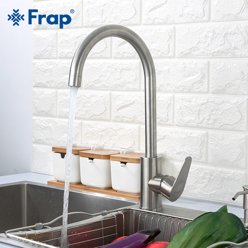 FRAP Kitchen Faucets Stainless Steel Kitchen Mixer Faucet Water Taps Cold And Hot Water Sink Faucet Grifo Cocina