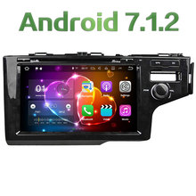 "2GB RAM Android 7.1.2 Quad Core 9"" 4G Multimedia Car DVD Player Radio Stereo GPS Navi SWC For Honda FIT RHD Right driving 2014"
