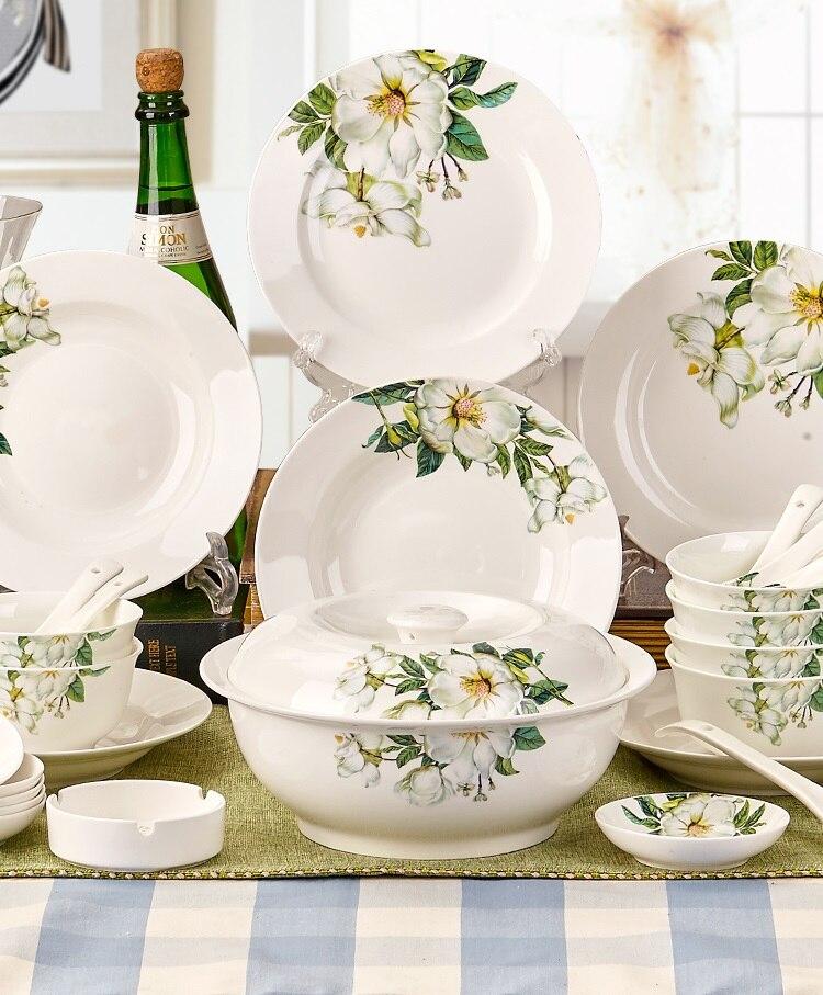 Ceram Piatti 56 pz Porcellana Sole Utensile Da Cucina set Piatti e Posateria Set Osso Piatti di Porcellana Fantasia Piatti e Ciotole Set