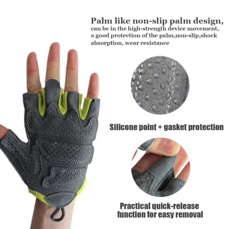 2018 Outdoor Cycling Bike Sport Gloves Summer  Bicycle Riding Gym Fitness Half Finger Gloves Shockproof Mittens