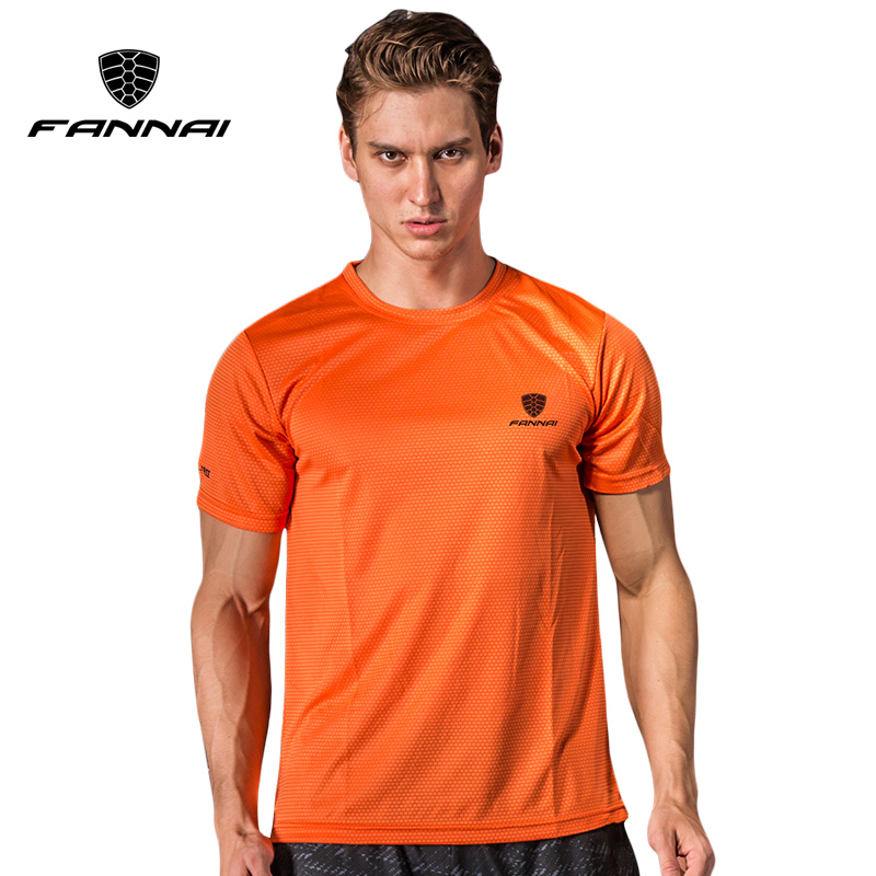 FANNAI t shirt men Sport Tops Tees Quick Dry Running Shirts men basketball T-shirt Mens Custom sports short sleeve MMA Tee