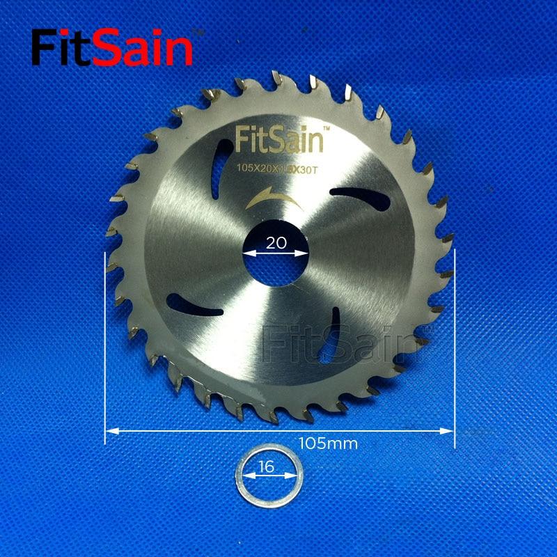 """FitSain - 4 """"lame per dischi da taglio in plastica per legno mini sega circolare elettrica per legno 105mm * 20mm 30 denti"""