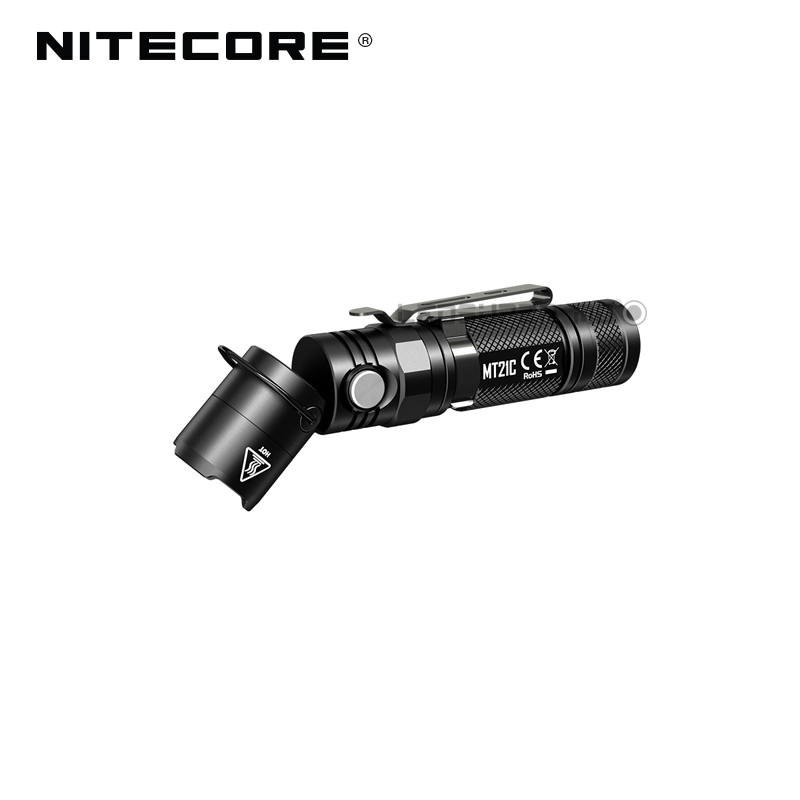 Image 3 - L Shaped Work Light Nitecore MT21C 1000 Lumens Compact EDC Torch 90 Angle Adjustable Flashlight with Magnetic Base-in Flashlights & Torches from Lights & Lighting
