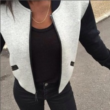 2016 Hot selling Women winter autumn fashion knitted short zipper jacket female casual warm comfortable coat CT1038