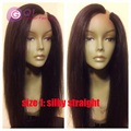 2016 u part human hair wigs brazilian upart wigs virgin kinky straight hair silky/yaki straight for black women with babyhair