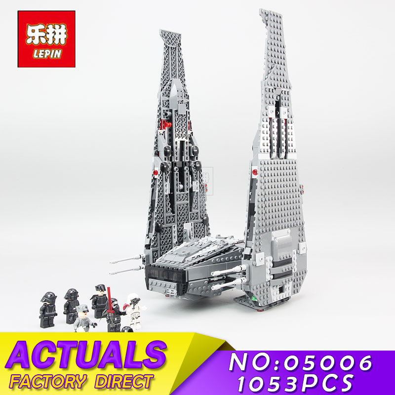 Star Wars LEPIN 05006 1053Pcs The Force Awakens Kylo Ren Command Shuttle Building Blocks Brick Compatible Toys for Children Gift