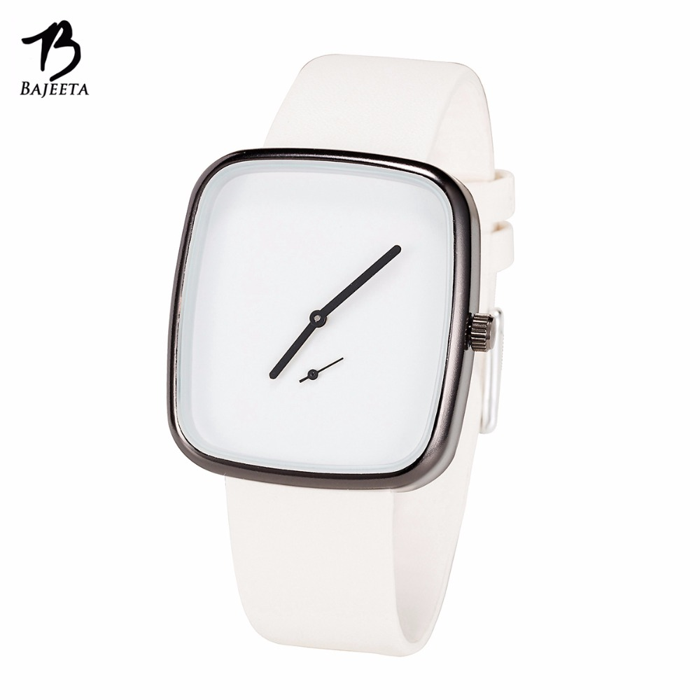 BAJEETA Beautiful Simple Style Women Watch Fashion Casual Leather Elegant Quartz Wristwatch Lady Dress Rectangle Clock Dropship