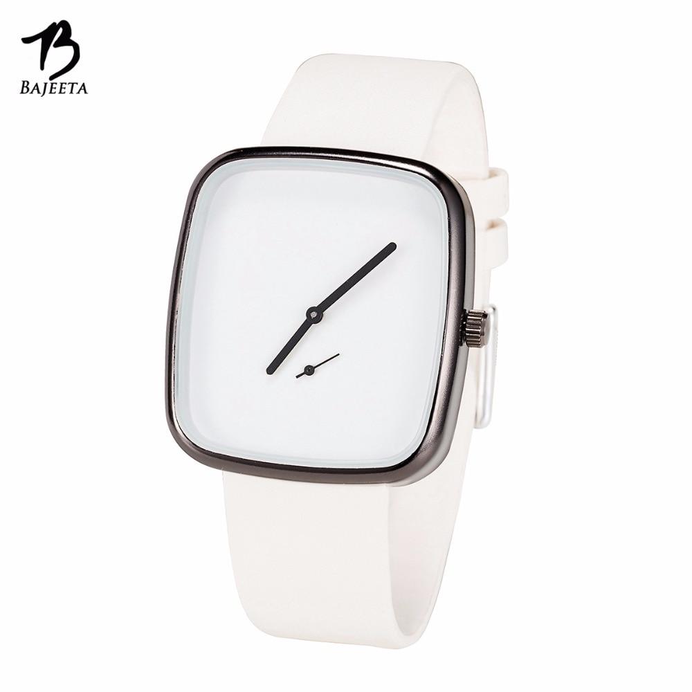 BAJEETA Beautiful Simple Style Women Watch Fashion Casual Leather Elegant Quartz Wristwatch Lady Dress Rectangle Clock Dropship geparlys beautiful lady