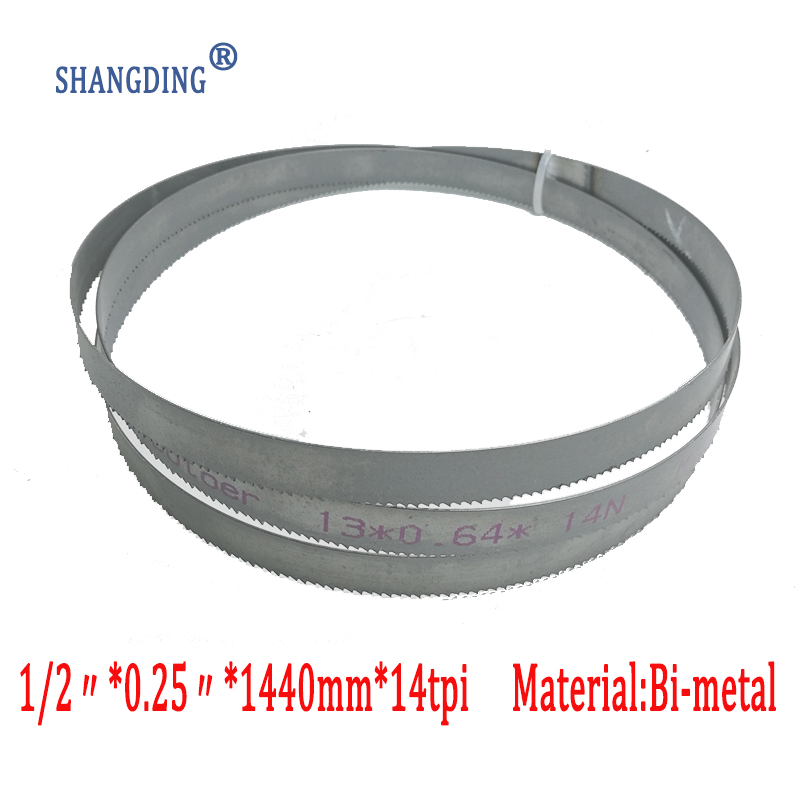 """56.7 """"x 1/2"""" x 0.25 """"o 1440 * 13 * 0.65 * 14tpi bimetal M42 hojas de sierra de cinta de metal para sierras de cinta europeas"""