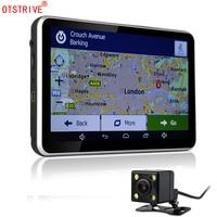 Otstrive 7 inch Android GPS Navigation WiFi Internet 16GB DVR Full HD 1080P Rear View Dual Back Camera DVR Video Recorder GPS