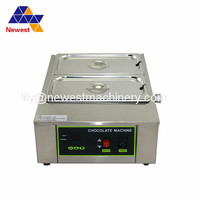 Commercial 2 tanks chocolate tempering machine chocolate warmer melter processing equiment machinery