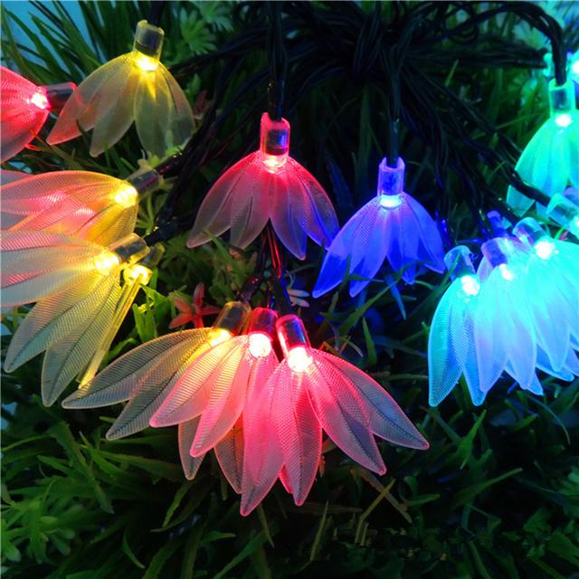Lámpara LED Luces de la Secuencia Solar Luces Decorativas de Cuatro Hojas Del Trébol Del Partido Luces De Navidad 6 M 30 LED de Jardín A Prueba de agua lámpara