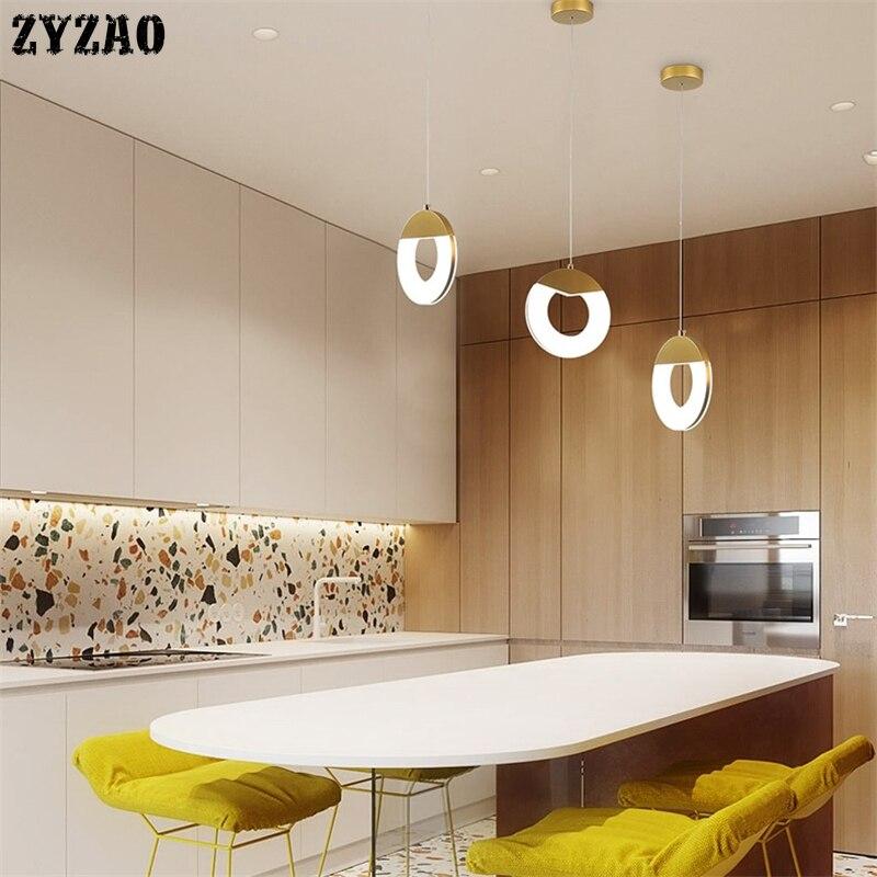 Nordic Postmodern Led Pendant Lights Simple Designer Round Pendant Lamp Restaurant Living Room Creative Bar Kitchen Hanging Lamp