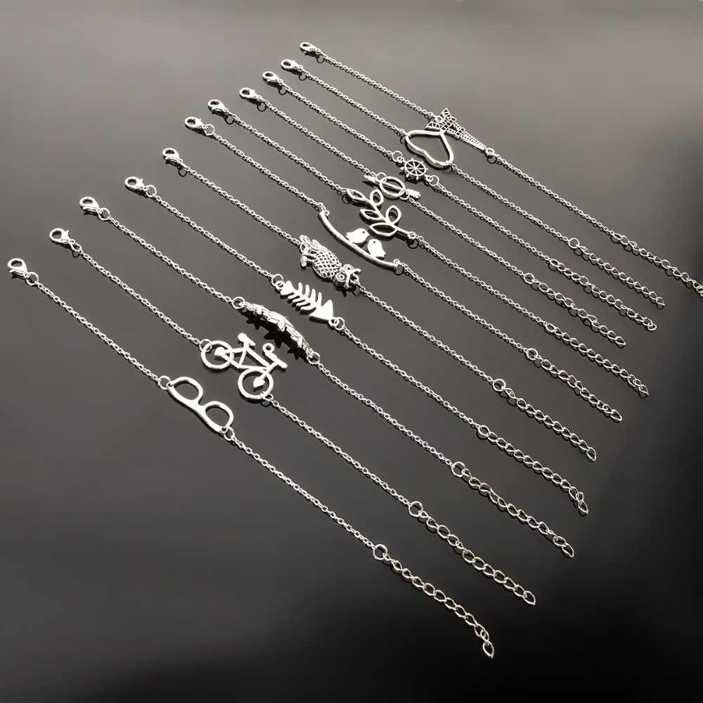 Оригинальный Простой дизайн серебряный браслет с проволокой, браслет с надписью «LOVE Heart», браслет со звездами для девушек, студентов, корейские милые браслеты