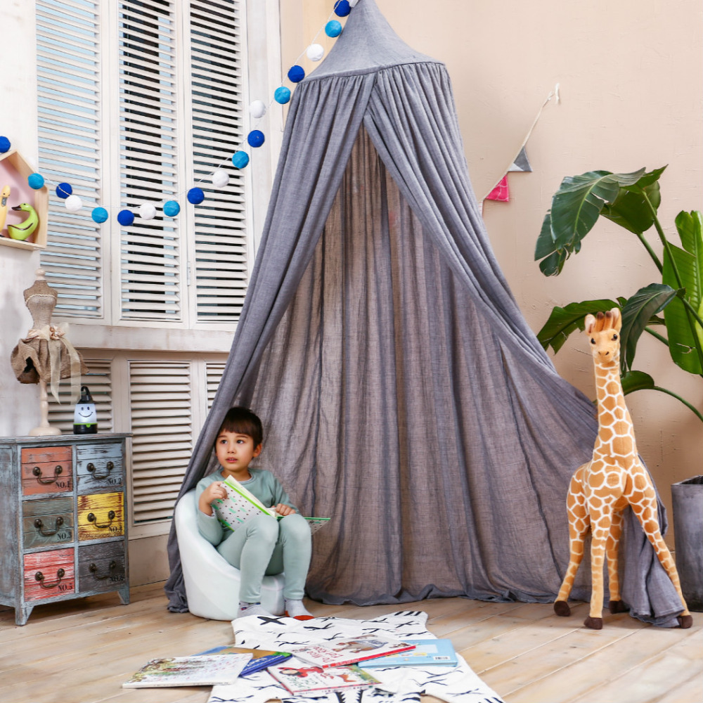 Children Hung Dome Bed Curtain Tent Mosquito Net Play Tent Canopy Kids Teepees Play House For Kids Room Party Decoration Gift vilead 7m desert camouflage net camo net for beach shade canopy tarp camping canopy tent party decoration bar decoration
