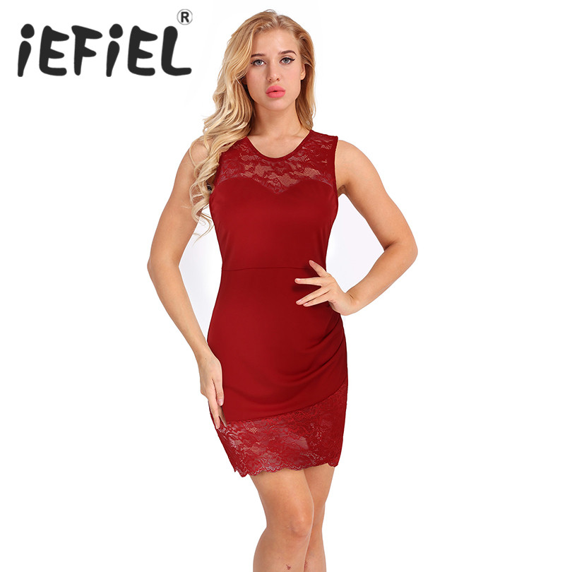 New Arrival Women Ladies Sleeveless Floral Lace Patchwork Bodycon Dress Party Clubwear Formal Prom Summer Embroidery Dresses