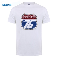 GILDAN Customised T Shirt Soldier 76 T Shirts Men Digital Printing 100 180 Gsm Combed Cotton