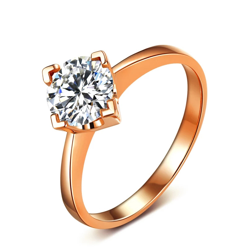 100% 18K 750Au Gold Moissanite Diamond Ring D color VVS With national certificate MO-0H107