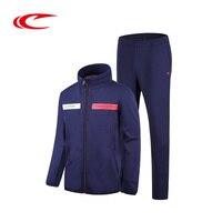 Saiqi Для мужчин дышащие кроссовки комплект на молнии куртка для бега эластичные спортивные брюки Открытый Спорт тренировки одежда устанавли