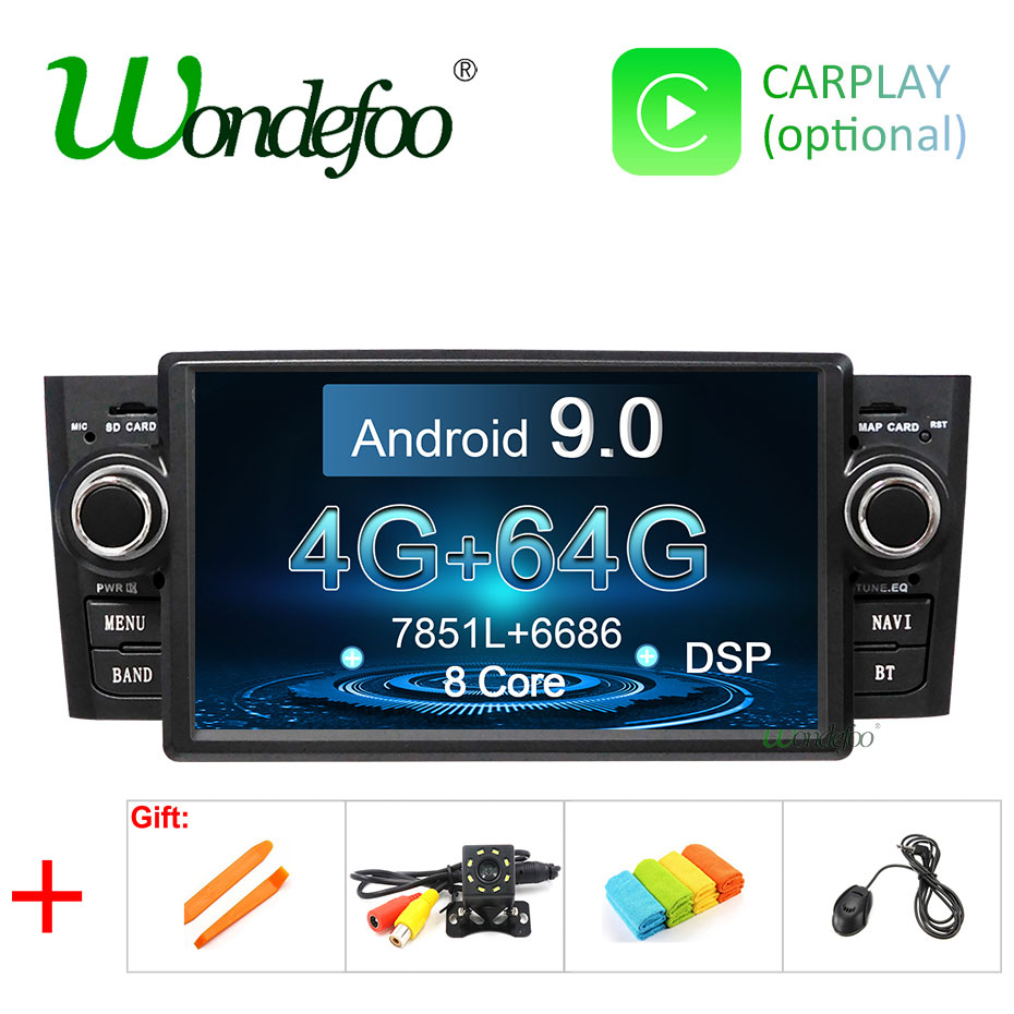 4G 64G DSP Android 9 0 CAR DVD PLAYER For Fiat Grande Punto Linea 2007 2012