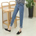 High Waist Boyfriend Jeans Women 2017  Blue Denim Pants Fashion Jeans Woman Harem Trousers Loose Trouser Plus Size Femme 701