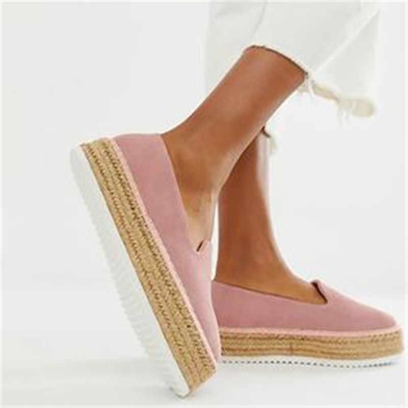 LASPERAL/модные эспадрильи из искусственной замши; повседневные лоферы; женские балетки на плоской подошве; женская обувь; zapatos mujer