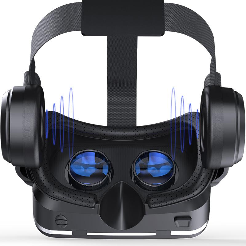 Original VR shinecon 6.0 headset version virtual reality glasses 3D glasses headset helmets smart phones Full package+GamePad 5