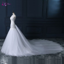 Waulizane Mermaid Wedding Dresses Royal Train Bride Dress