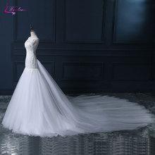 Waulizane Mermaid Wedding Dresses Royal Train Bride Dress