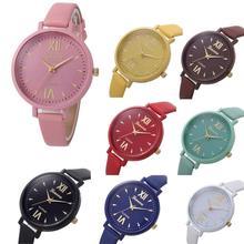 2017 Newly Designed Relogio Feminino Clock  Women Leisure Time Fine Watch Strap Leather Analog  Simple Clock Dial Wrist Watch323