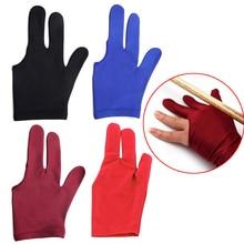 Высококачественный спандекс кий для снукера бильярда перчатка бассейн левая рука открыть три пальца аксессуар для унисекс женщин и мужчин 4 цвета