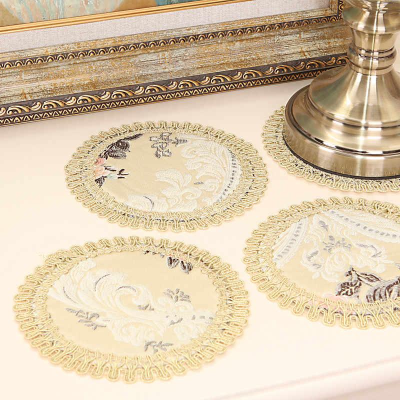 Европейский вышивка салфетки модные подставка обеденный Таблица стола салфетки свадьба coaster чашка кружка напиток салфетка