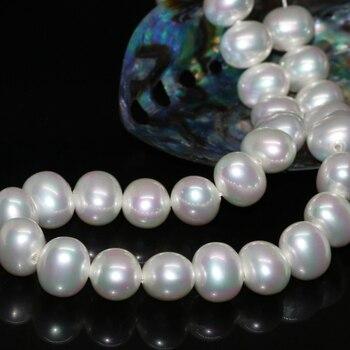 Nueva llegada diseño especial nueva moda 13*15mm Concha blanca natural perlas ovaladas joyería fina hacer cuentas sueltas 15 pulgadas B2277