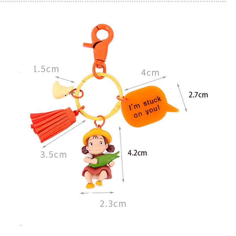 Мультфильм мягкий ПВХ милый девушки резиновый брелок 3D аниме животное Пчела Брелок для ключей детская игрушка подвеска автомобиль сумка подарки, держатель для ключей