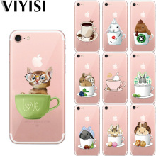 VIYISI Phone Case For Apple iPhone X IPhone 7 case 8 6 6S Plus Cover 5 5S SE Teacup rabbit Etui Back Coque Capinha Eagle