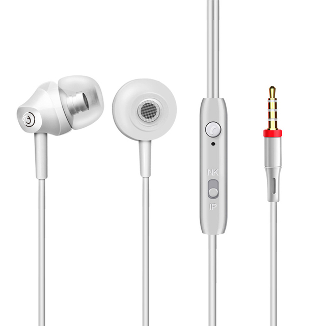 Portable Mini Stereo Bass Earphone For iPhone 5 6 Samsung S8 Headset Mobile Phone Microphone Wired Outdoors Sports Earphones MIC