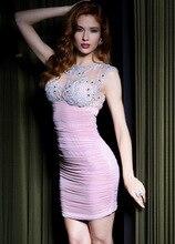 Sexy Rosa Kurze Cocktailkleider 2015 Nach Maß Backless Spitze Abschlussball-partei-kleid Vestidos de Baile